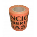 Cinta de marcaje de seguridad/conductos Gas 150x250 mm