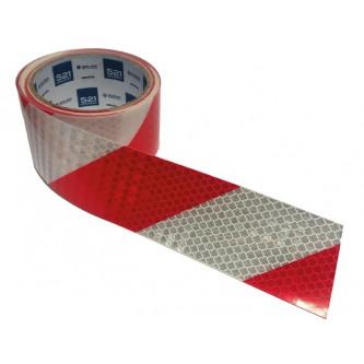 cinta reflectante blanca roja 50 mm x 5 m