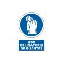 USO DE GUANTES CON ROTULO