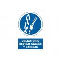 REVISAR CABLES Y CADENAS CON ROTULO