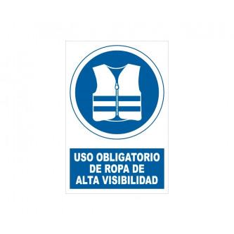 uso de ropa de alta visibilidad con rotulo