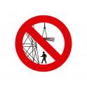 prohibido permanecer en area de carga