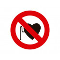 prohibida entrada con marcapasos