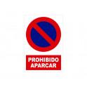 PROHIBIDO APARCAR CON ROTULO