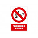 PROHIBIDO FUMAR CON ROTULO