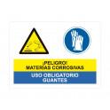 materias corrosivas uso obligatorio de guantes