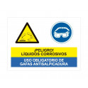 liquidos corrosivos uso obligatorio de gafas antisalpicadura