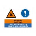 materias nocivas uso obligatorio de equipo de proteccion