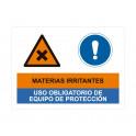 materias irritantes uso obligatorio de equipo de proteccion