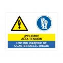 alta tension uso obligatorio de guantes dielectricos