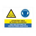 area de ruido peligroso uso obligatorio de protectores auditivos