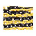 Cadena plástica amarilla/negra 25 m. eslabón 6mm