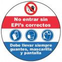 Adhesivo uso Obligatorio de EPIS