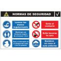 Cartel de Normas de Seguridad C-011