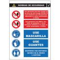 Cartel de Normas de Seguridad C-012