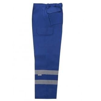 pantalón multibolsillos azulina con bandas reflectantes velilla