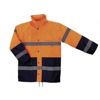 parka alta visibilidad bicolor velilla naranja azul