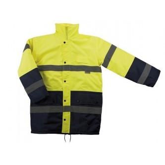 parka alta visibilidad bicolor velilla amarillo azul