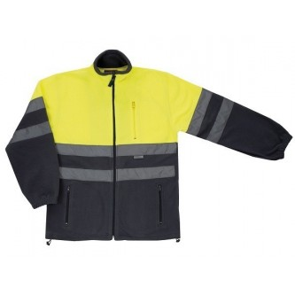 chaqueta polar alta visibilidad amarillo gris velilla