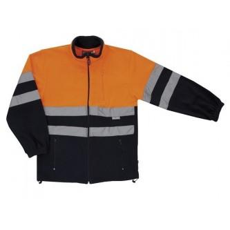 chaqueta polar alta visibilidad naranja marino velilla