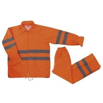 traje de lluvia naranja alta visibilidad velilla