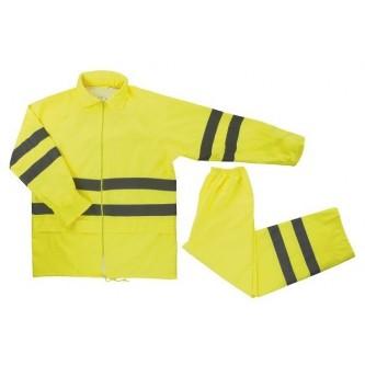 traje de lluvia amarillo alta visibilidad velilla