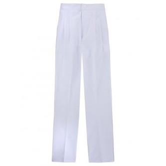 pantalón pijama blanco con pinzas velilla