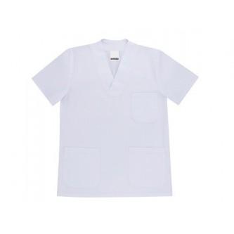 camisola pijama blanco cuello pico manga corta velilla