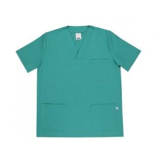 camisola pijama verde cuello pico manga corta velilla