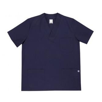 camisola pijama azul marino cuello pico manga corta velilla