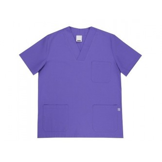 camisola pijama morado cuello pico manga corta velilla