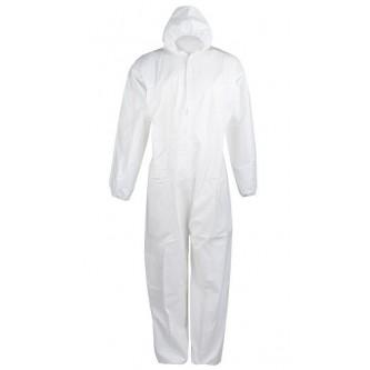 mono blanco desechable alta calidad con capucha velilla