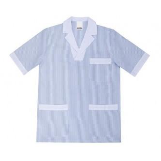 camisola pijama celeste de señora velilla