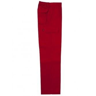 pantalón multibolsillo rojo velilla
