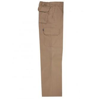 pantalón multibolsillo beige velilla