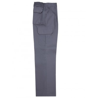 pantalón multibolsillo gris velilla