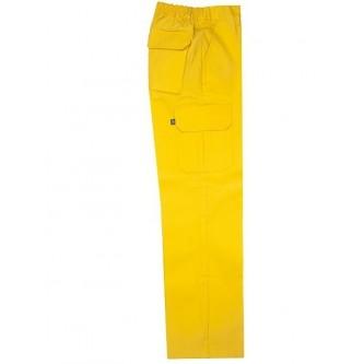 pantalón multibolsillo amarillo velilla