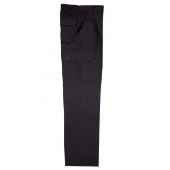pantalón multibolsillo negro velilla
