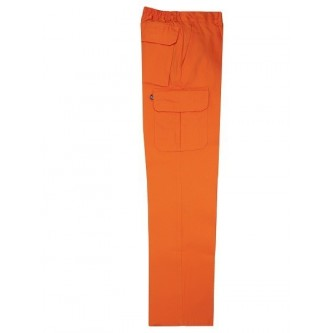 pantalón multibolsillo naranja velilla