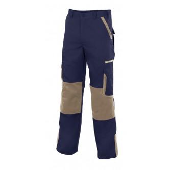 pantalón bicolor multibolsillos con refuerzo de tejido velilla