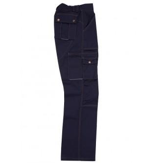 pantalón multibosillos reforzados zinc azul marino velilla