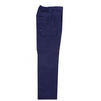 pantalón desmontable multibolsillo azul marino velilla