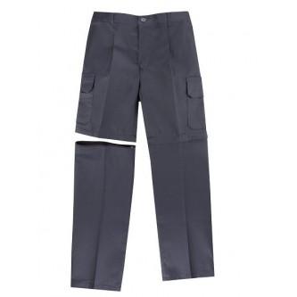 pantalón desmontable multibolsillo gris velilla