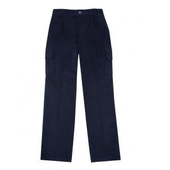 pantalón de pana azul marino velilla