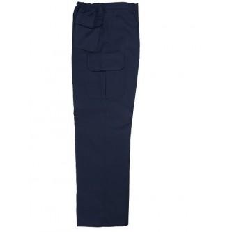 pantalón multibolsillos acolchado azul marino velilla