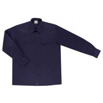 camisa manga larga con 2 bolsillos azul marino velilla