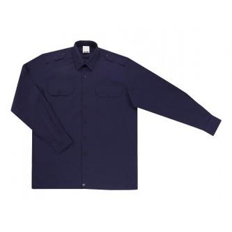 camisa uniforme manga larga con 2 bolsillos azul marino velilla