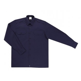 camisa uniforme algodon manga larga azul marino velilla