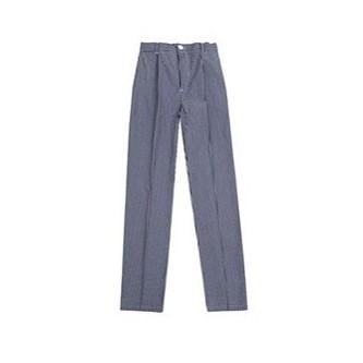 pantalón cocinera color cuadros azul marino y blanco velilla