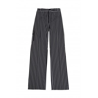pantalón con gomas rayas negras velilla